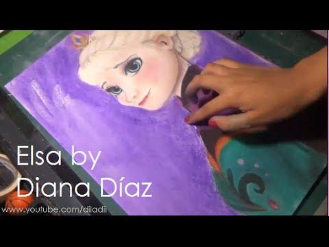 Speed Drawing: Queen Elsa (Frozen)   Diana Díaz