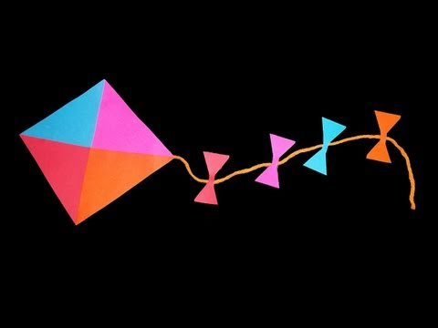 How to make a decorative paper kite