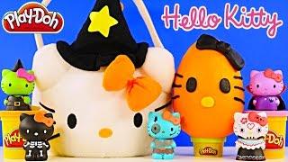 getlinkyoutube.com-HELLO KITTY SURPRISE BASKET - Play Doh Egg Mermaid Princess Pets Sofia MLP LPS Peppa Pig Toys