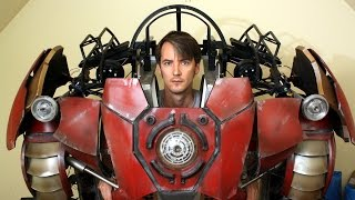 getlinkyoutube.com-XRobots - Iron Man Hulkbuster Cosplay Part 35, Working on the Helmet again