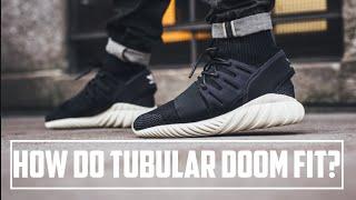 Adidas Tubular Radial Granite On Feet