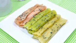 getlinkyoutube.com-Thai Fresh Rolled Wafer (Thai Dessert) - Tong Muan Sod ทองม้วนสด