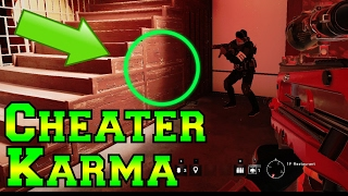 getlinkyoutube.com-Teaching Cheaters Karma - Rainbow Six Siege