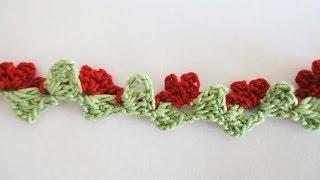 getlinkyoutube.com-Тесьма Вязание крючком  Webbing Crochet