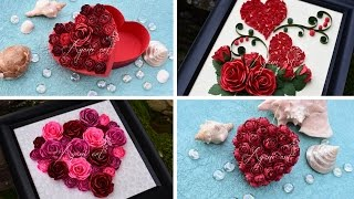 getlinkyoutube.com-DIY Valentine's Day Gift Ideas with Paper Roses and Quilling Tutorial