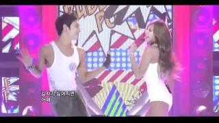 getlinkyoutube.com-Bubble pop hyuna live with Lee Joon MBLAQ [HD]