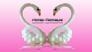 getlinkyoutube.com-Big balloon swan, decoration, wedding, großer Ballon Schwan, Dekoration, Hchzeit