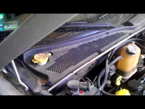 Chrysler pt cruiser замена фильтра салона