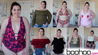 getlinkyoutube.com-Boohoo Try-On Haul: Spring Break Edition |Plus Size Fashion|