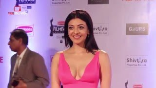 HOT Kajal Agarwal Spotted At 61st Filmfare Awards 2016 | Do Lafzon Ki Kahani Movie Actress