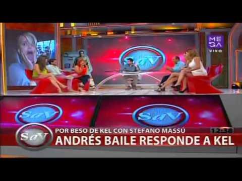Kel Calderón desmiente a Andrés Baile por beso con Stefano Massú