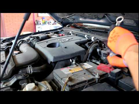 Как проверять уровень масла в АКПП на,P, или,N, Mitsubishi Pajero 2008 Мицубиси Паджеро 3,2
