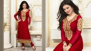 getlinkyoutube.com-Latest New Karachi Works Dress Salwar Kameez Suits Chudidar Designs Patterns
