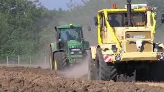 getlinkyoutube.com-Russischer K700 & John Deere Traktor pflügen - Russian Tractor plowing