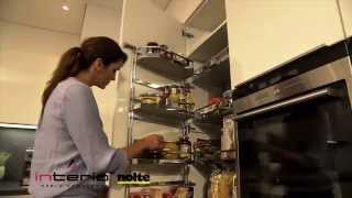 Wyjątkowe wyposażenie w zabudowie wysokiej - meble kuchenne Nolte