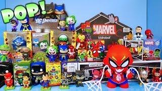 DC Vs Marvel Superhero Toys Showdown Super Blind Box Unboxing Kidrobot By Disney Cars Toy Club
