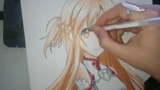 Speed Drawing - Asuna (Sword Art Online)