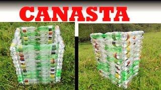 getlinkyoutube.com-MANUALIDADES _ Como hacer una canasta con botellas recicladas - RECICLAJE