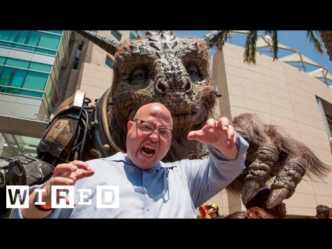 The Giant Creature Destroys Angry Nerd in Movie Monster Trivia at San Diego Comic-Con 2014-WIRED