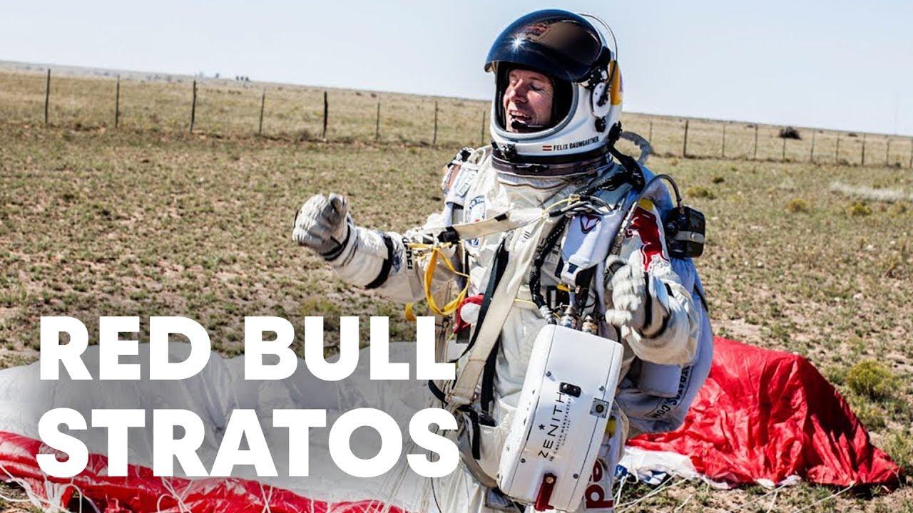 Felix Baumgartner's Red Bull Stratos - World Record Freefall