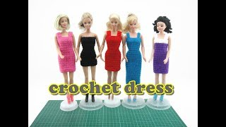 Crochet Tutorial - Easy Doll Dress