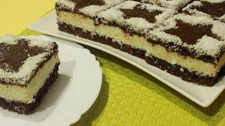 getlinkyoutube.com-Jeftin kolač sa kokosom - Coconut Cake Recipe - Eng Sub