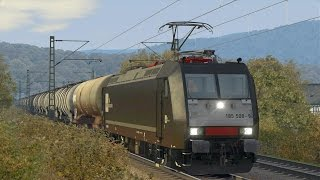 getlinkyoutube.com-LET`S TEST Train Simulator 2015 / Test der BR 185.5 MRCE von DTG auf Hagen-Siegen