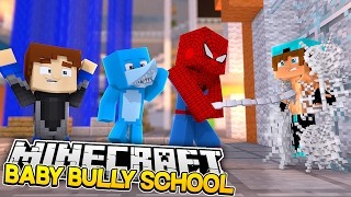 getlinkyoutube.com-BABY BULLY SCHOOL - SPIDERMAN SAVES US FROM DEATH!!! Minecraft w/ Surprise Guest!!!