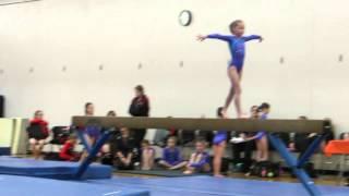 getlinkyoutube.com-Ariana D. Gymnastics Age 7 Beam routine 3rd MN State Qualifier