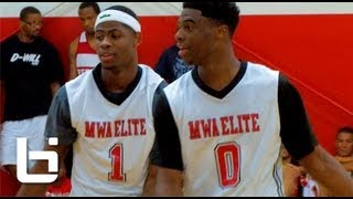 getlinkyoutube.com-Best DUO On The Summer Circuit? Malik Newman & Emmanuel Mudiay TAKE OVER The GASO!