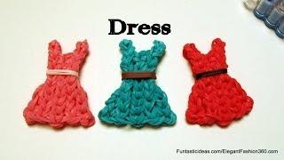 getlinkyoutube.com-Rainbow Loom Bands Dress emoji/emoticon charm - How to - Mother's Day