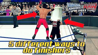 5 different ways to do finishers in svr 2011/2k18