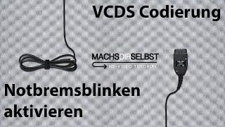 [Golf V] Notbremsblinken aktivieren mit VCDS Tutorial (HD)