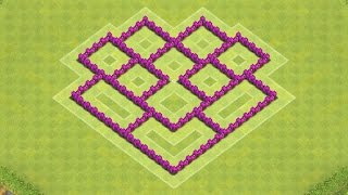 getlinkyoutube.com-Clash of Clans Town Hall 6 Defense (CoC TH6) BEST Hybrid Base Layout Defense Strategy