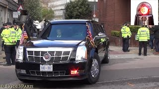 getlinkyoutube.com-President Obama Secret Service Motorcade in London