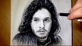 getlinkyoutube.com-Comment dessiner un visage [Tutoriel] Jon Snow