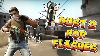 CS:GO - 10 Must-Know Self Pop Flashes on Dust2