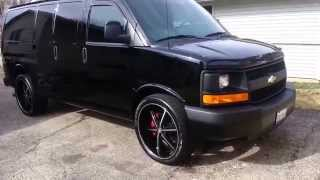 getlinkyoutube.com-2014 Chevy Express Cargo Van on U2 55B 24's