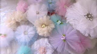 getlinkyoutube.com-Cheap and Chic: Super Quick and Pretty Tulle Flowers