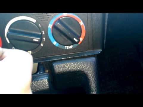 BMW E34 справленные скорости печки