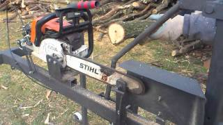 Can Cervera - Chainsaw support now with safety bar,  firewood processing.