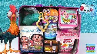 getlinkyoutube.com-Surprise Lunchbox Moana Disney Shopkins My Little Pony Twozies & More Opening | PSToyReviews