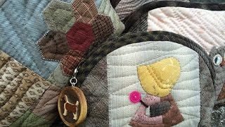 "getlinkyoutube.com-パッチワーク Patchwork Quilt Vol.12""Easy Demi-Lune Half-moon Purse ""「スピーディにハーフムーンのポーチ」Felisa Quilts"