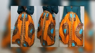DIY PINTREST ANKARA  MAXI SKIRT (DASHIKI OR ANGELINA FABRIC)