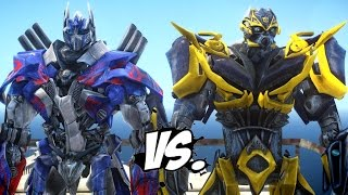 getlinkyoutube.com-OPTIMUS PRIME VS BUMBLEBEE - TRANSFORMERS BATTLE