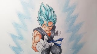 getlinkyoutube.com-Drawing Vegito Super Saiyan Blue