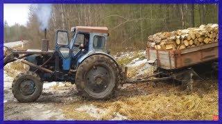 getlinkyoutube.com-Трактор Т-40АМ Беспощадный Подъём Гружёным.
