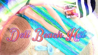 getlinkyoutube.com-DIY - How to Make: Doll Beach Hat with Accessories - Handmade - Doll - Crafts