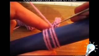 getlinkyoutube.com-Como tejer punto escoba a crochet Parte 1 - Como Lo Hago