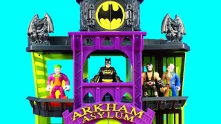getlinkyoutube.com-Imaginext Villains Try To Rescue Joker Riddler Mr. Freeze Bad Guys From Batman Arkham Asylum